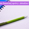 Akadémia finančnej správy aktuálne školenia