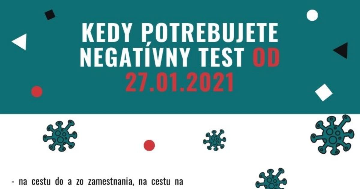 KEDY potrebujete negativny test