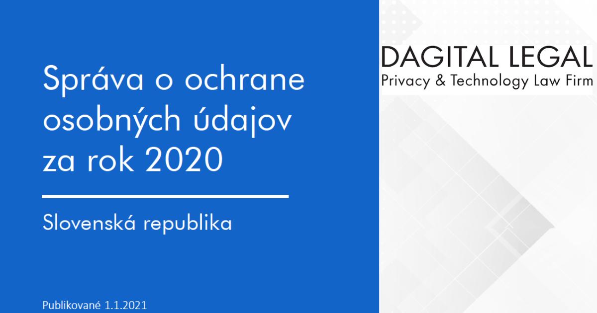 Správa o ochrane osobných údajov za rok 2020
