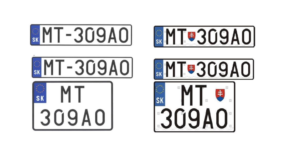 Tabuľka s evidenčným číslom vozidla (EČV)