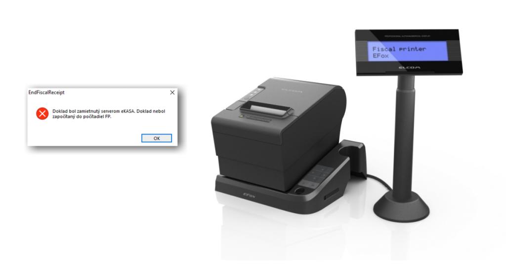 Pokladnice EFox netlačia pokladničné doklady