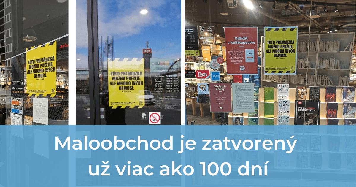 Maloobchod je zatvorený už viac ako 100 dní