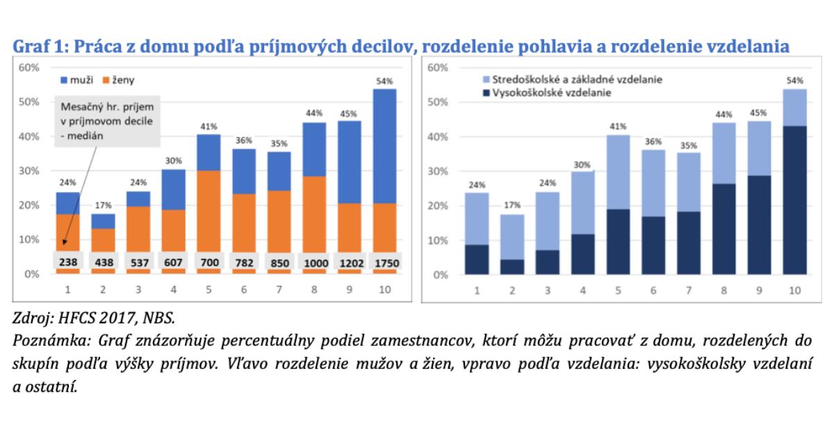 Na Slovensku je možné vykonávať v približne 35 % práce z domu, zistili analytici